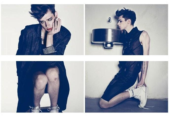 Cole Mohr shows his feminine side in Tush Magazine