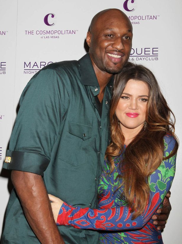 Lamar Odom and Khloe Kardashian celebrate Kim Kardashian's birthday at Marquee Nightclub at Cosmopolitan Las Vegas, Nevada