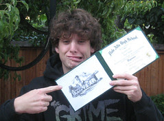 Teenager with Diploma
