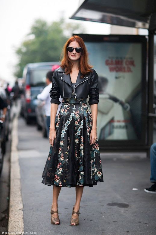 Le Fashion Blog 15 Ways To Wear Floral Prints Taylor Tomasi Hill Cropped Leather Jacket Print Dress Via Stockholm Street Style photo 15-Ways-To-Wear-Floral-Prints-Taylor-Tomasi-Hill-Cropped-Leather-Jacket-Print-Dress-Via-Stockholm-Street-Style.jpg