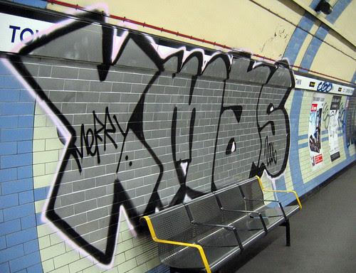Christmas Day graffiti at Camden Town photo by Dave Knapik