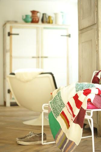 inside by wood & wool stool