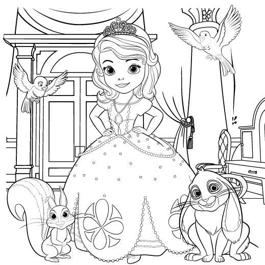 Princesa Sofia Para Colorear Pintar E Imprimir
