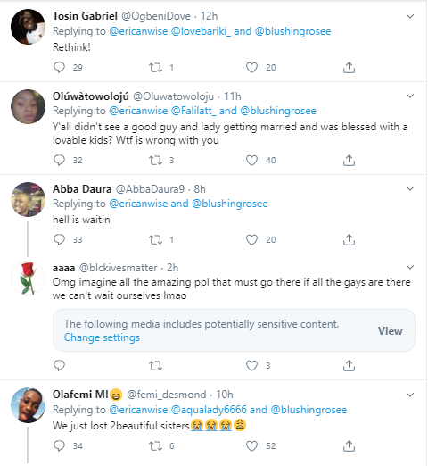 Nigerian man quotes Bible verses as he condemns two African American women who recently got engaged in Hawaii (Photos)