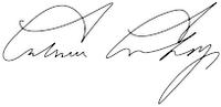 Signature of Calvin Coolidge