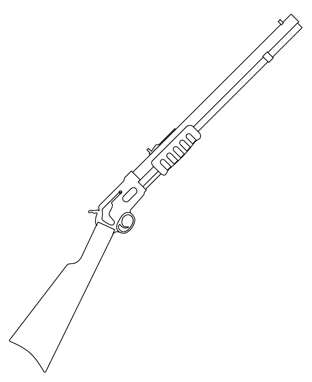 Pistol coloring pages to download and print for free