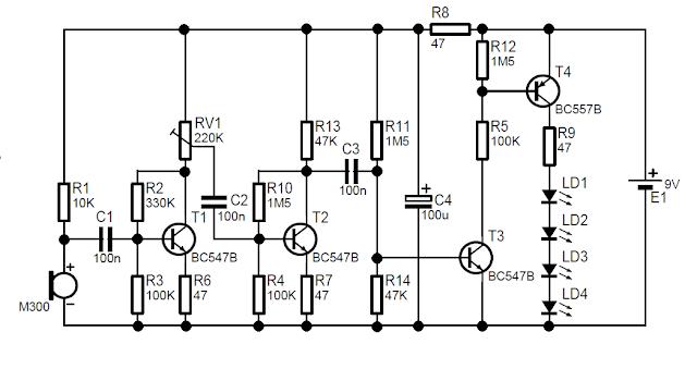 Sound Activated LED Kit - Electronics Mini Project