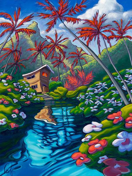 Island Paradise Matted Print 8x10 11x14 Mat Pecoff Studios