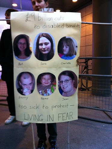 £9 billion cuts to disabled benefits. Kat, Sara, Charlotte, Benny, Nemo, Jean: Too sick to protest - living in fear