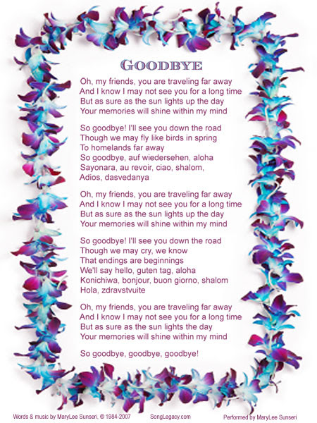 Farewell Celebration Song Goodbye Original Song From Song Legacy