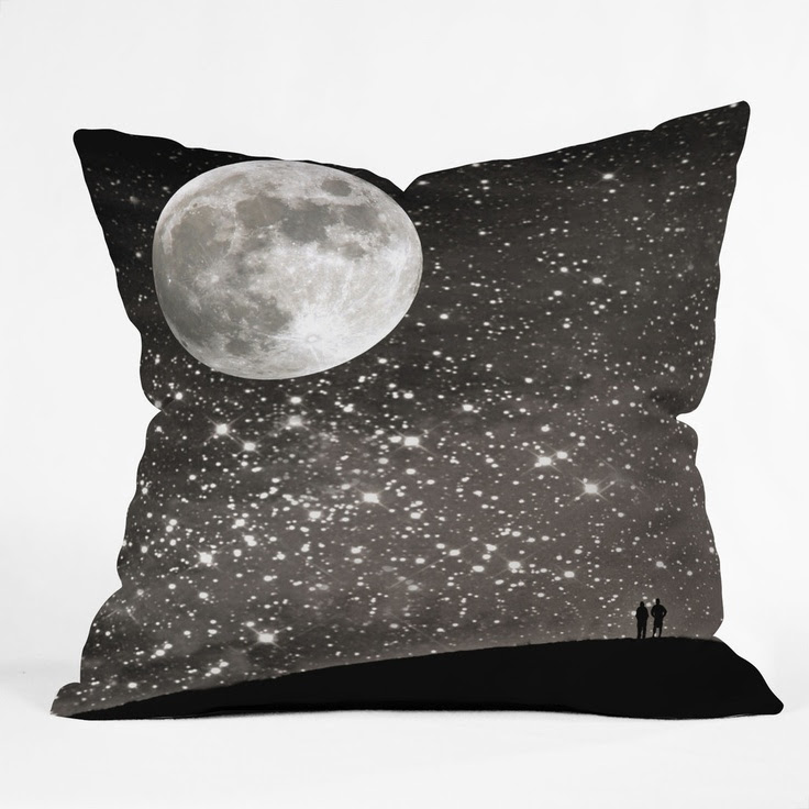 Shannon Clark Love Under The Stars Throw Pillow