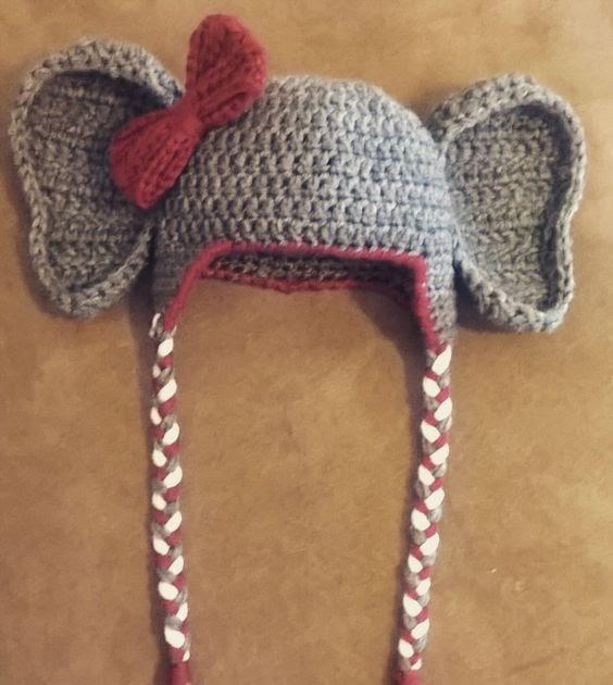 My Hobby Is Crochet Crochet Alabama Elephant Hat