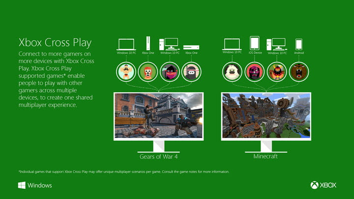 windows  creators gaming xbox cross play