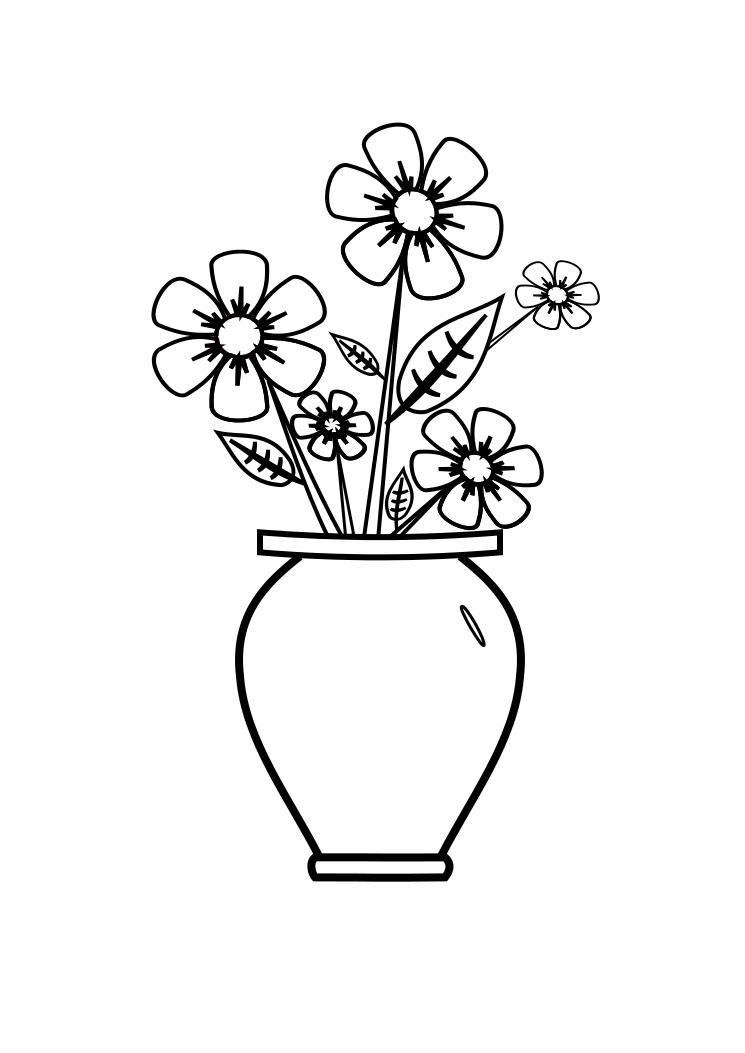 Imagens De Vaso De Flores Para Colorir Flores Imagenes