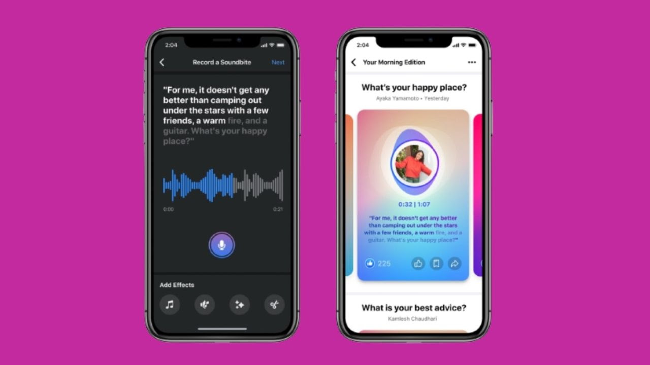 Facebook will now allow users to record Soundbites — short-form, creative audio clips.