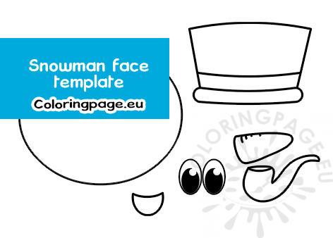 snowman face template printable  coloring page