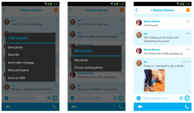 Skype for Android updated with support for offline photo sharing, picture-in-picture view