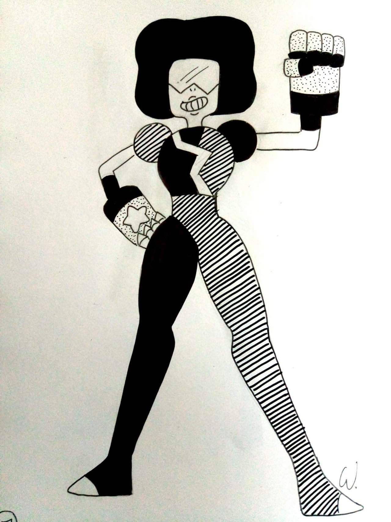 Inktober #7 Garnet