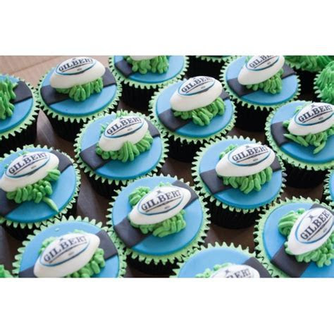 Gilbert Rugby Cupcakes