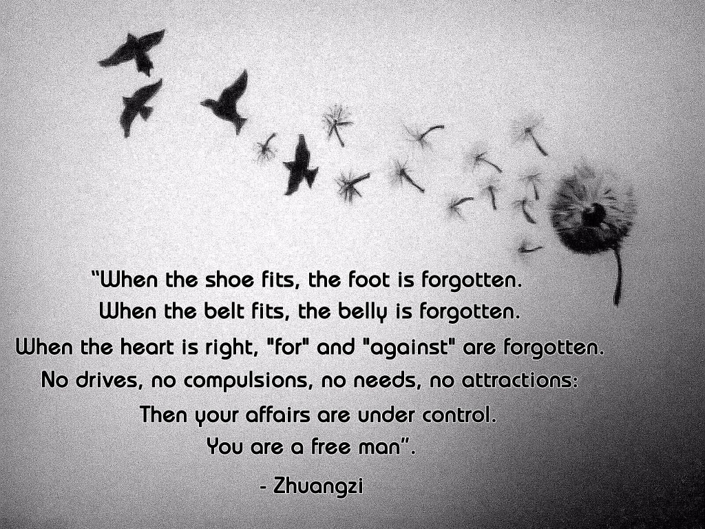 When The Shoe Fits The Foot Is Forgotten Free Man Zhuangzi