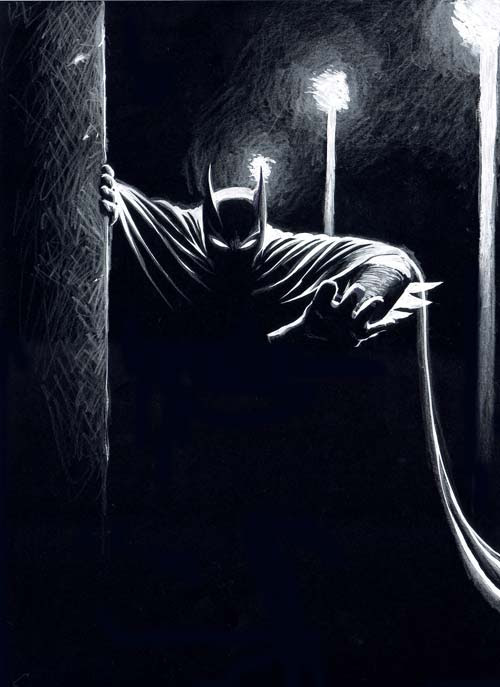 Batman the Watcher by Mario Cau, sketch