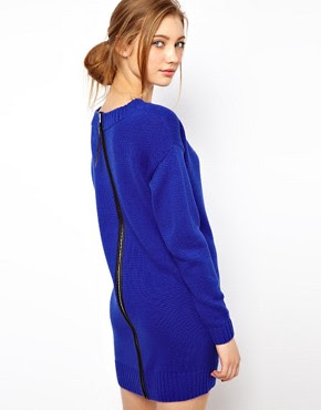 Image 1 of ASOS Zip Back Jumper Dress