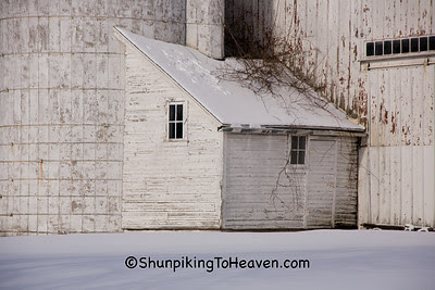 Silo and Silo Room at Airy Knoll Farm, Sauk County, Wisconsin