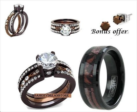 New Camo Engagement Rings His and Hers   Matvuk.Com