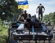 Un tank delle forze governative (Epa)