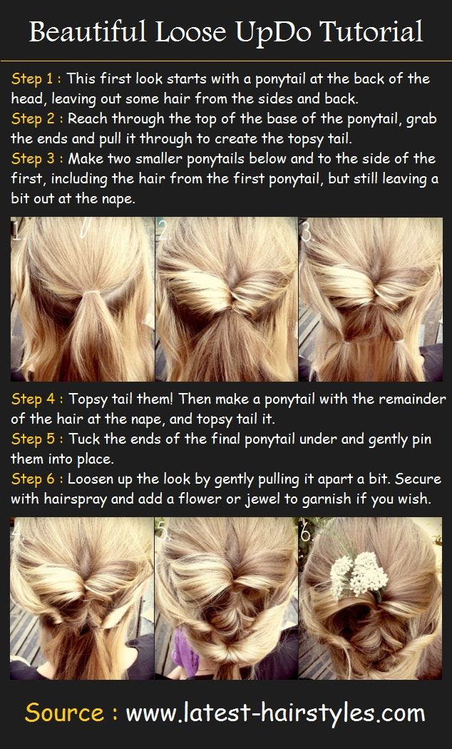 Beautiful Loose Up-Do Tutorial | Pinterest Tutorials