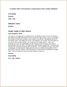 Letter To Insurance Company To Settle Claim - nevada ...