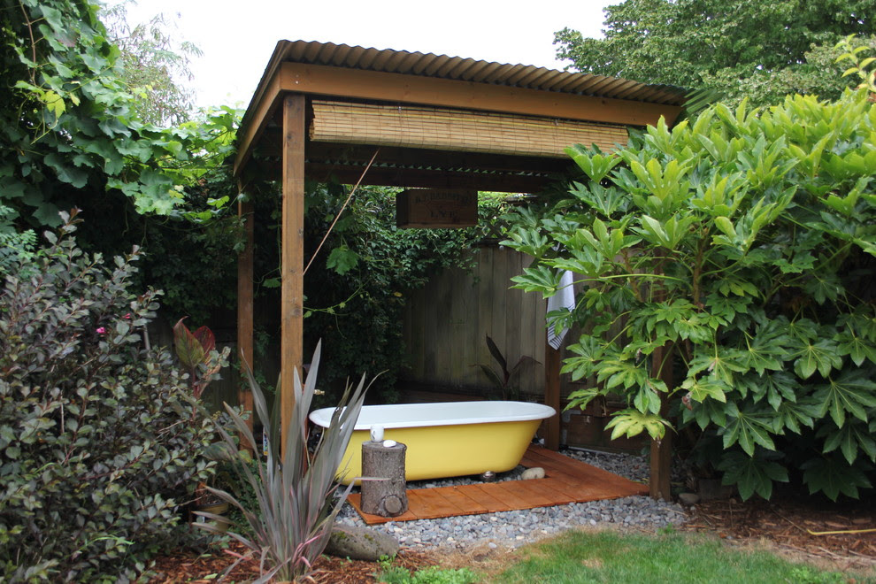Dazzling Inflatable Hot Tubs In Patio Eclectic With Front House