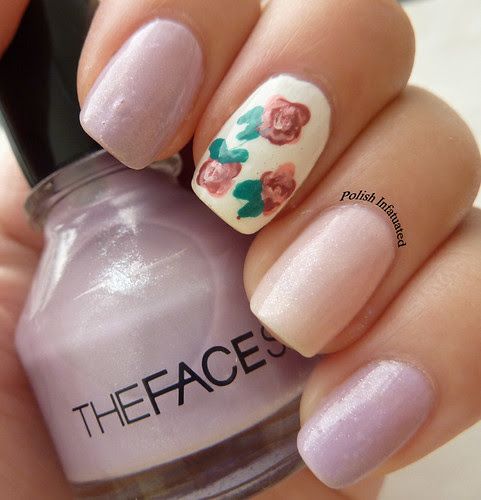 rose nail art1