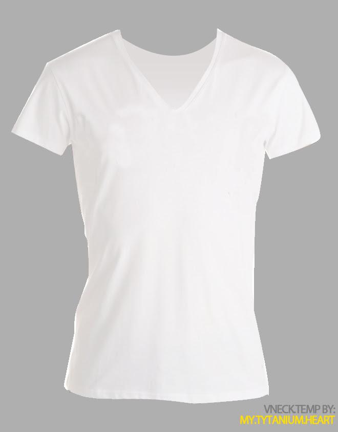 V Neck Shirt Outline