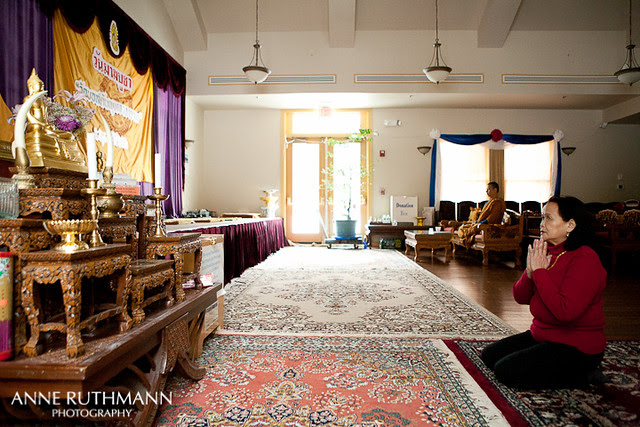 Grandma Rose in Buddhist Prayer