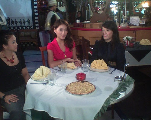 Amber Chia, her business partner Shan and Fay the hostess