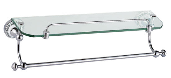 Bathroom Glass Shelf With Towel Bar 3311 Bathroom Glass Shelf By