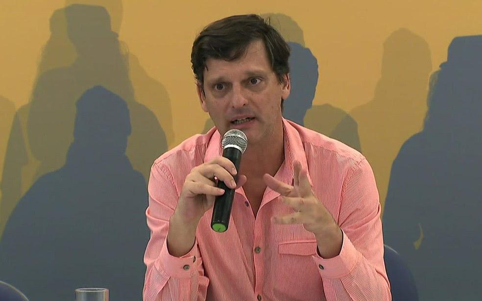 O futuro secretário de Cultura de São Paulo André Sturm  (Foto: TV Globo/Reprodução)