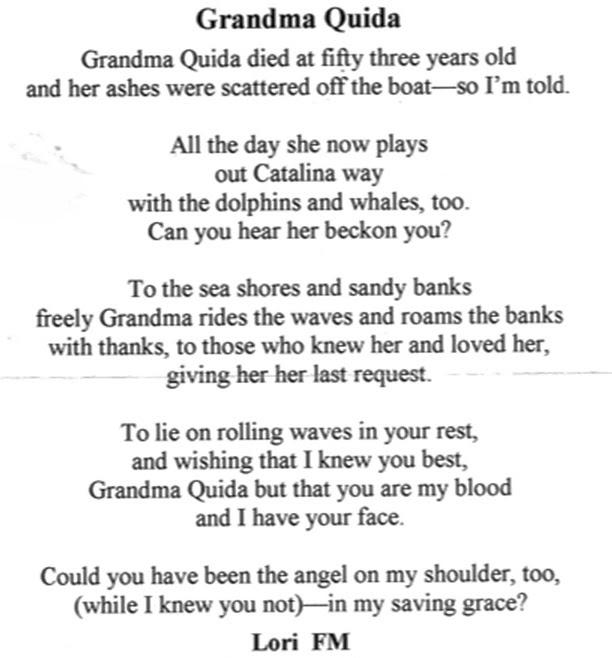 Grandma Poems Death Shamstore