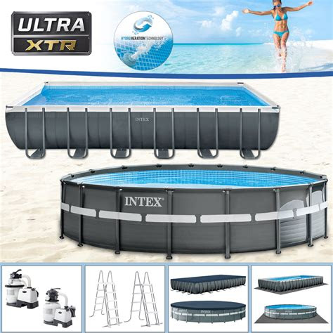 intex swimming pool frame pool set ultra xtr