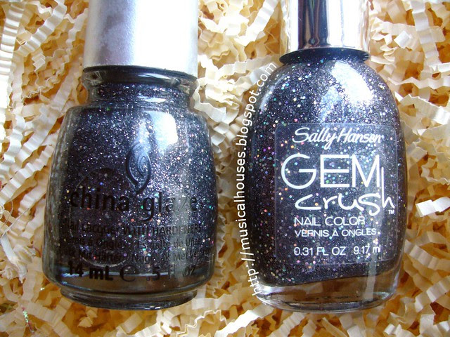 china glaze some like it haute sally hansen glitz gal comparison
