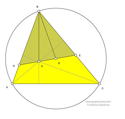 Online Math: Geometry Problem 1147: Scalene Triangle, Orthocenter, Circumcenter, Congruence, Equilateral Triangle.