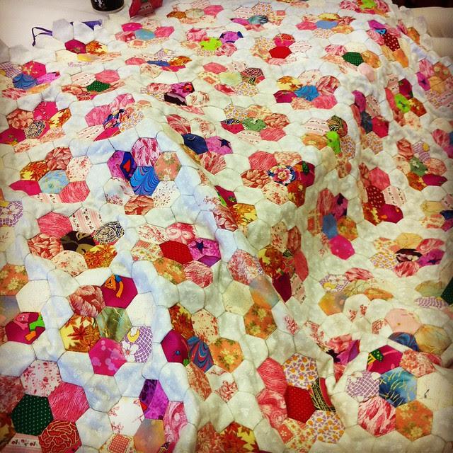 Barbara's flower garden quilt
