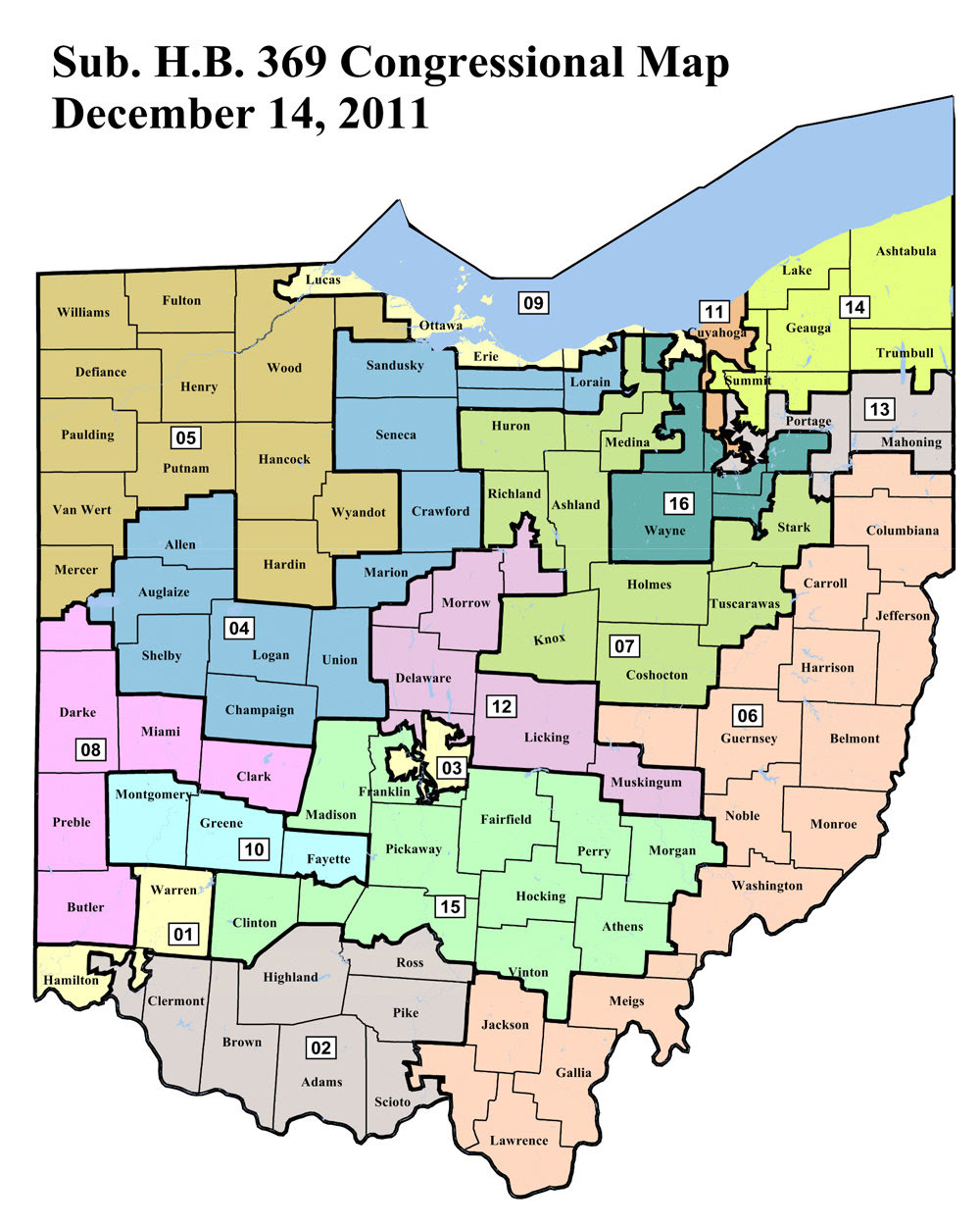Us House Of Representatives District Map Ohio - Us-house-of-representatives-map-by-state