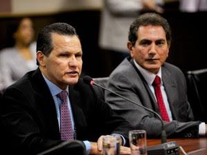 O governador de Mato Grosso, Silval Barbosa, e o secretário-chefe da Casa Civil, Pedro Nadaf. (Foto: Mayke Toscano / Secom-MT)