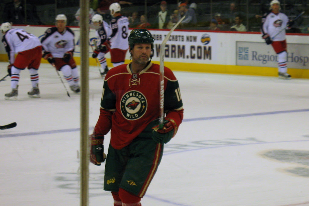 New to the Wild is number 11, Owen Nolan, he has played in the NHL since 1990.