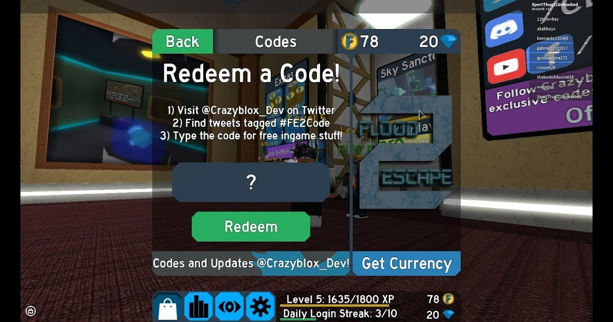 Roblox Flood Escape 2 Twitter Codes   Free Robux Generator Ios