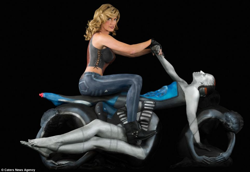 Masterful marvel: The cruiser bike is sure to impress motor enthusiasts when Trina Merry's Hollywood talent goes on the road