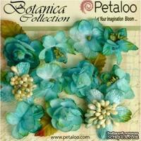 Набор объемных цветов Petaloo - Botanica Minis - Teal - ScrapUA.com