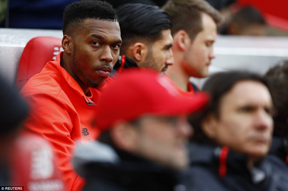 Jurgen Klopp made nine changes to the Liverpool lineup and dropped England striker Daniel Sturridge to the bench